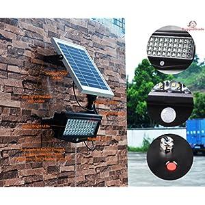 High Power 1000Lumen Solar Motion LED Flood Light –10 watts of High Power Light – Commercial Grade Flood Light – Adjustable Mount – Solar LED Floodlight – 8000mAh Rechargeable Battery