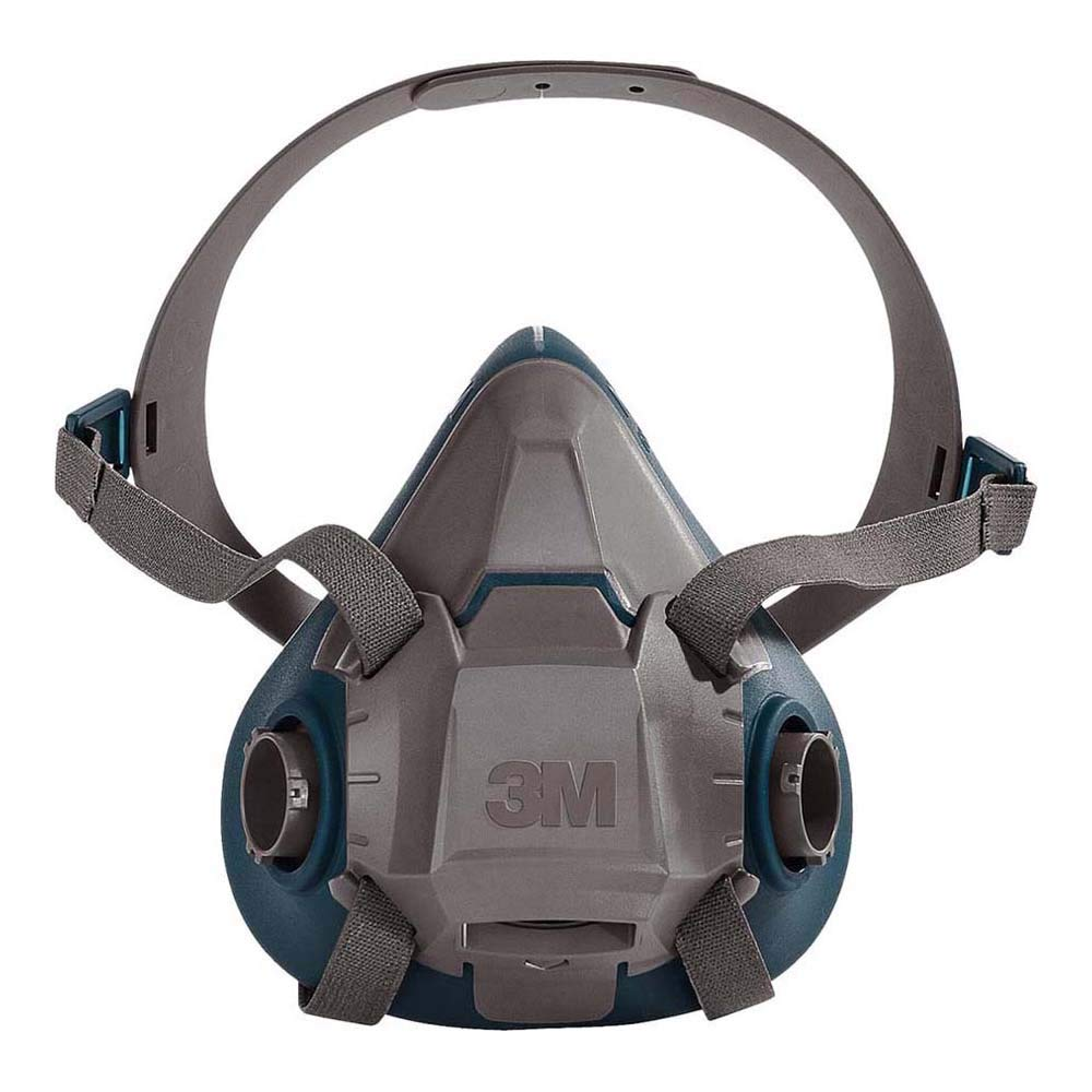 """3M 6502 6500 Series Respirator with 4 Point Harness and Bayonet Connection, English, 15.34 fl. oz, Plastic, 8"""" x 7.2"""" x 4"""""""