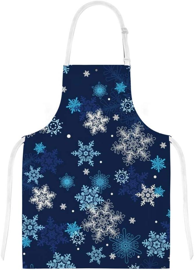 Nouvel an pour Femme Enfant Fille jeansame Ensemble Tablier et manique de Cuisine avec Motifs de Flocons de Neige et /étoiles gar/çon Homme