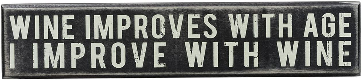 Primitives by Kathy Classic, Box Sign, Improve with Wine