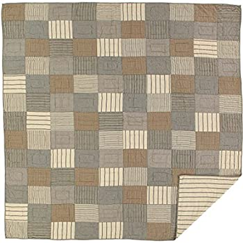 Image of Home and Kitchen VHC Brands Farmhouse Bedding-Sawyer Mill Quilt, Queen, Charcoal Grey