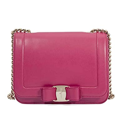 Image Unavailable. Image not available for. Color  Salvatore Ferragamo  women s leather cross-body messenger shoulder bag ... 4575096391