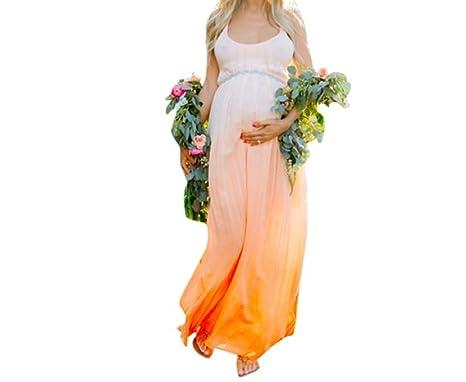 Traje Para Premamá Vestido para mujeres Embarazadas Arte De Maternidad Accesorios de Fotografía(Degradado de color) (L): Amazon.es: Ropa y accesorios