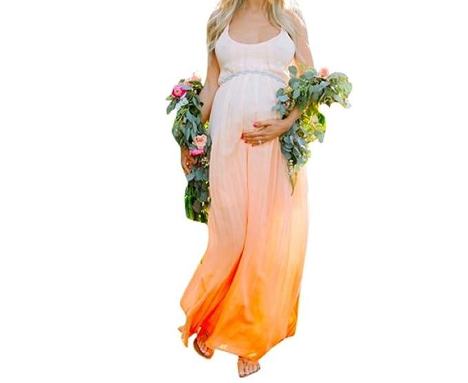 Traje Para Premamá Vestido para mujeres Embarazadas Arte De Maternidad Accesorios de Fotografía(Degradado de