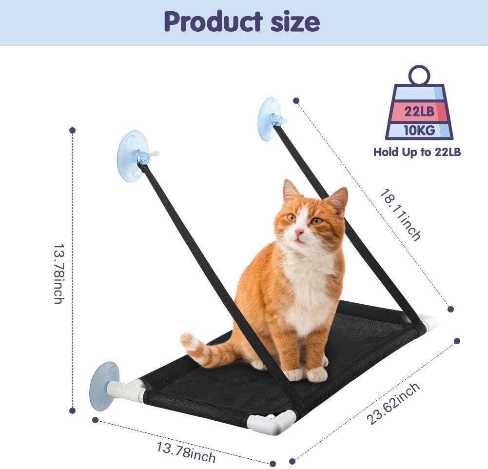 per prendere il sole e per gatti fino a 10 kg traspirante FayTun con 4 ventose ultra resistenti Amaca per finestra per gatti