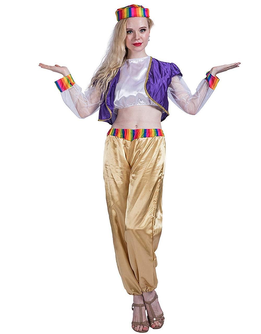 Amazon Com Halloween Arab Genie Girl Cosplay Adult Costume Xmas