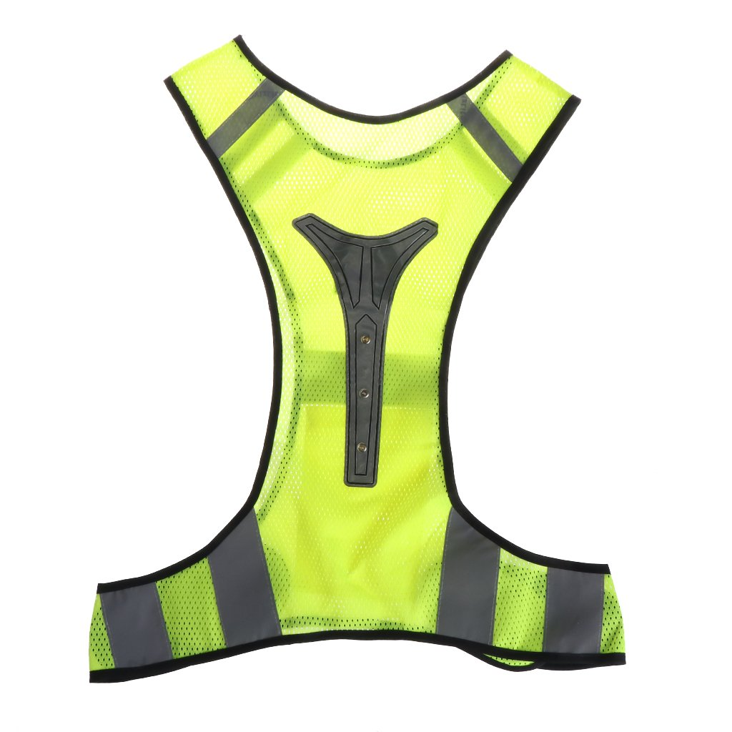 ULKEME Cycling Reflective Vest LED Running Outdoor Safety Jogging Breathable Visibility