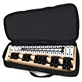 Giantex 27 Note Glockenspiel Xylophone, Percussion Instrument with Wood Base and 27 Metal Keys, Alto Full Size Glockenspiel Xylophone for Adults and Kids- Includes 2 Rubber Mallets and Carrying Bag
