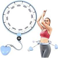 Hula Hoop Inteligente, Fitness Hula Hoops con Registre Los Datos Del Ejercicio, Peso Ajustable Bola Giratoria y 15 Nudos…