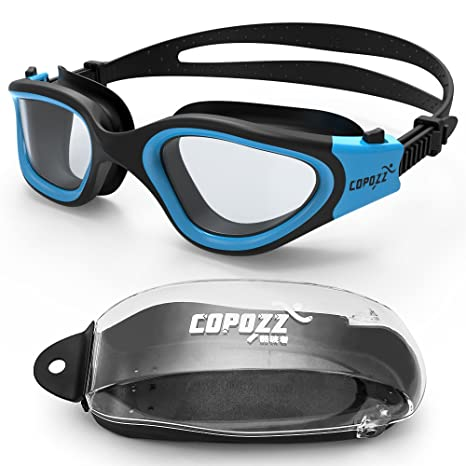 1f01cc753de5 COPOZZ Clear Swimming Goggles Adult Large