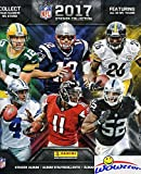 2017 Panini NFL Football Stickers HUGE 72 Page Color Collectors Album with 10 MINT Stickers! Every Team Features a 2 Page Color Spread! Great Collectible to House your New NFL Stickers! WOWZZER!