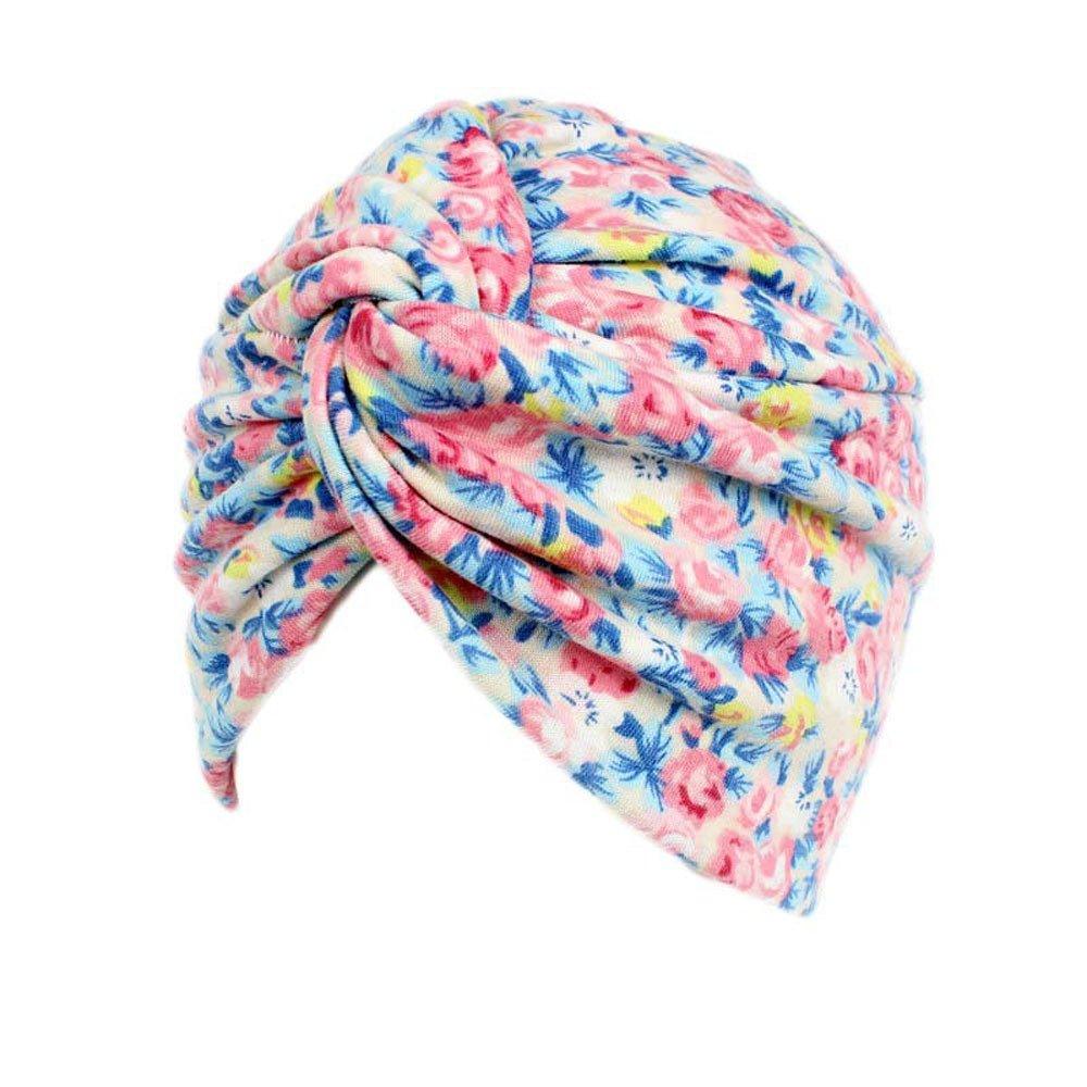 Hotsellhome Women Ladies Slouchy Beanie Hat Baggy Floral Cancer Sleeping Hat Cotton Soft Head Wrap Cap Scarf Snood Turban Headwear For Chemo alopecia Hair Loss