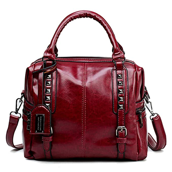 Amazon.com: New Oil Wax Leather Retro Style Handbag Luxury Handbags Women Bags Designer Mochilas Mujer 2018 Shoulder Bag Ladies Hand Bags: Clothing