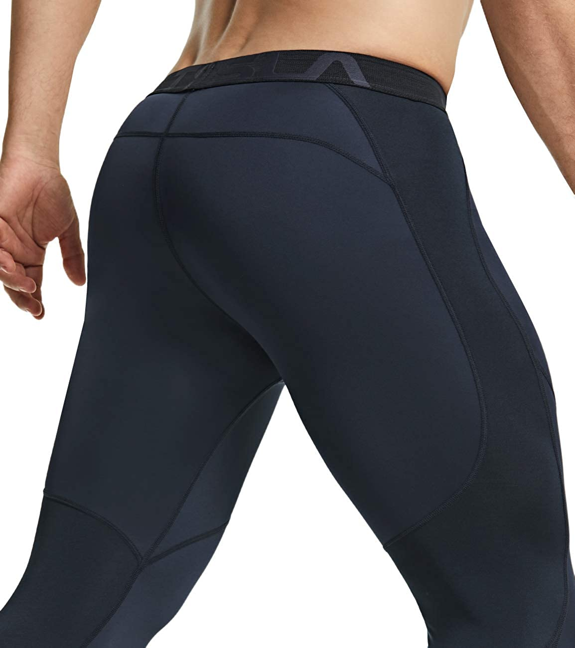Cool Dry Performance Boosting Baselayer 2 or 3 Pack Mens Compression Pants Running Tights Workout Leggings TSLA 1