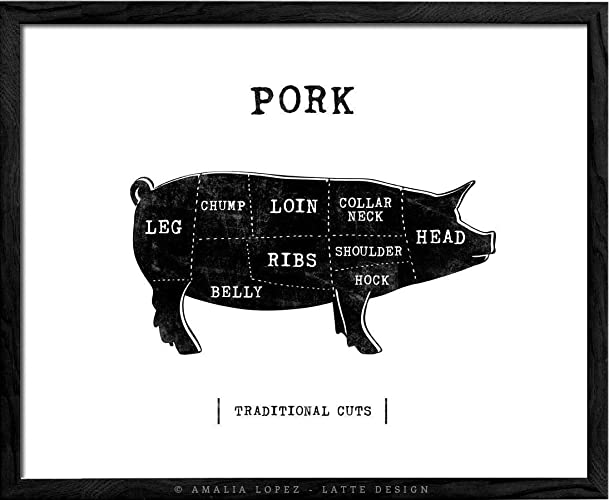 Traditional Pork Butcher Kitchen Print By Latte Design Butcher