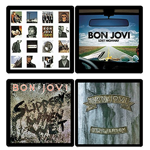 t Collection - (4) Different Album Covers Reproduced Onto Absorbent, Soft, Drink Coasters ()
