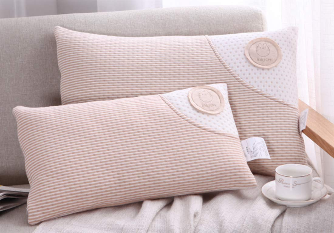 B, S 50X30CM Baby Toddler Pillow-Toddler Bedding Small Pillow with 100/% Cotton Cover