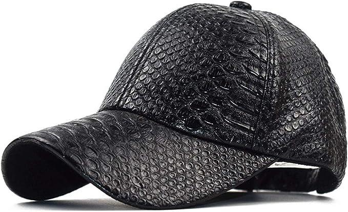Black Snakeskin Snapback Design Baseball Cap