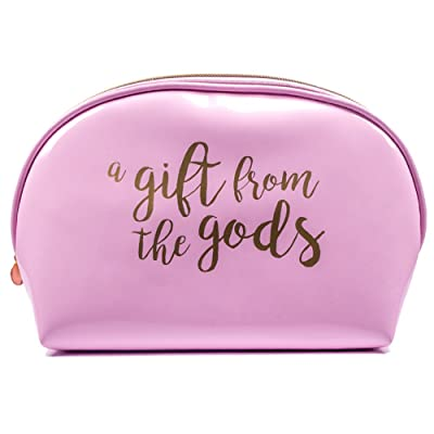 A Gift From the Gods Women Curve Travel Toiletry Bag in Pink and Gold
