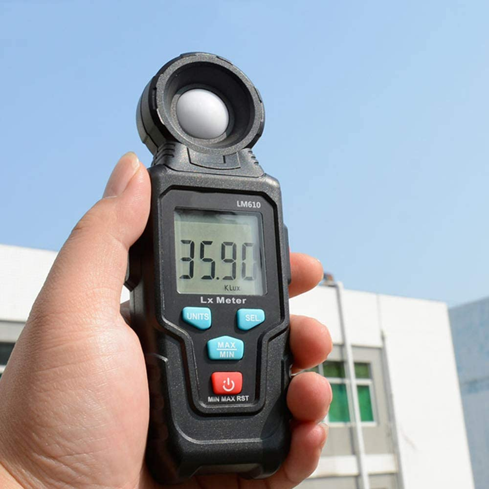 Mini Portable Digital Illuminance Meter High Precision Sensor Libraries 15.463Cm Suitable for Laboratories HD LCD Backlight Display Offices