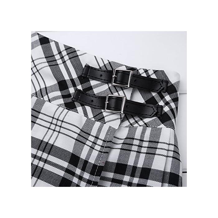 61JPmN zTCL La falda está hecha de poliéster y material de algodón, lavado a mano. Tabla de tallas significa rangos de edad para niñas, pero solo son orientativos. Poliéster algodón