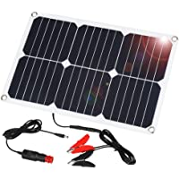 SUAOKI 12V Solar Car Battery Charger, 18W Trickle Solar Panel Charger, Portable and Waterproof Solar Battery Maintainer, Suitable for Motorcycle RV Boat Marine Snowmobile Tractor ATV Marine Trailer