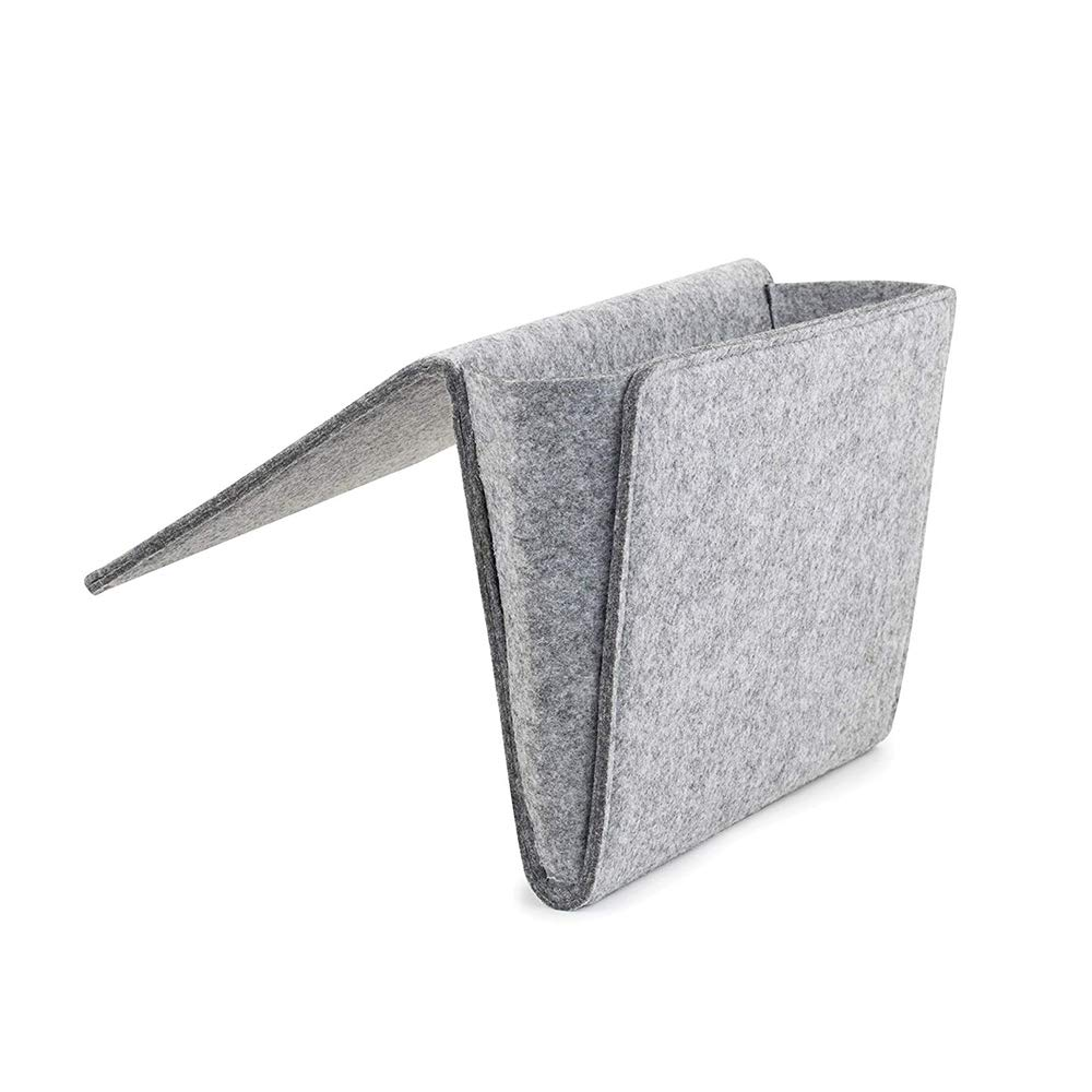 Tablet caricatori Organizer per la conservazione del Letto allInterno con 2 Tasche per Cellulare Grigio Scuro Accessori YuamMei Bedside Caddy Cuffie