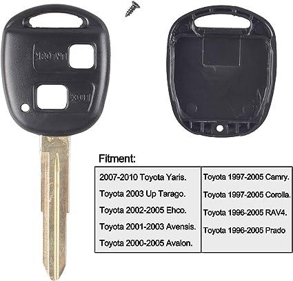 2 Tasten Fernbedienung Schlüssel Shell Gummi Pad Klinge Reparatur Set Für Toyota Yaris Auto