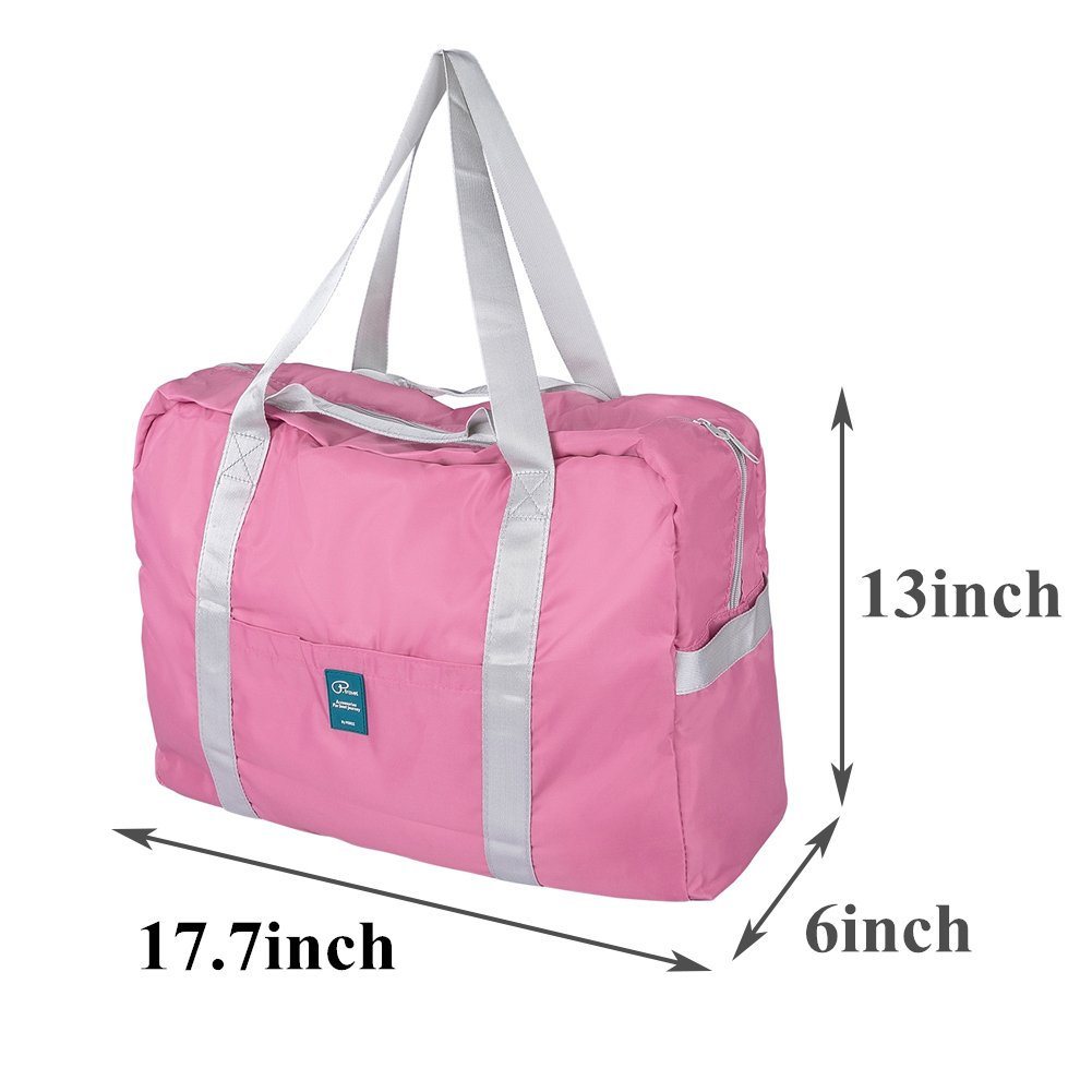 VanFn Foldable Travel Duffel Bag, Sports Duffels Gym Bag, Rainproof Nylon Totes, Sports Shoulder Handbag, Lightweight Duffle Bags for Women & Men, Outdoor Weekend Bag, P.Travel Series (Indipink) by VanFn (Image #1)