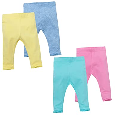 735c9a162eea Amazon.com  Baby Town Baby Girls Leggings With Lace Trim Available ...