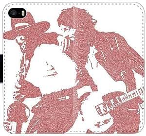 Bruce Springsteen y Clarence Clemons B8K1H Funda iPhone 5C funda de cuero caja de la carpeta F6KN3p caso del tirón del teléfono único funda protectora