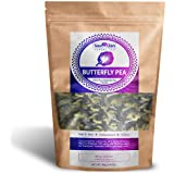 Sou Zen Butterfly Pea Flowers (80 g) Dried Tea Leaves | Natural, Raw Drink Mix w/ Antioxidants, Organic Nootropics | Promotes