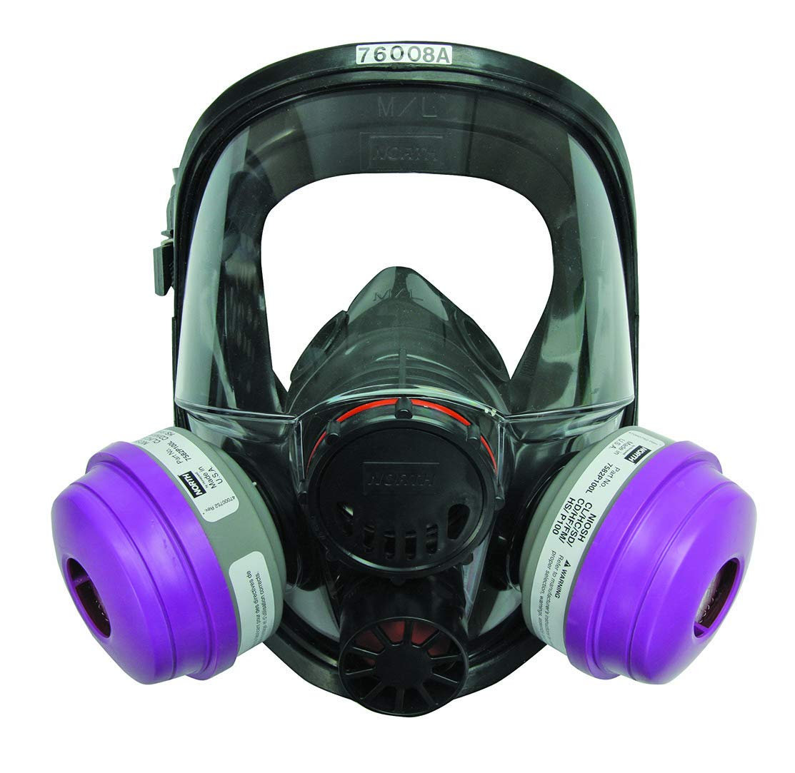Honeywell 760008AS North by Small Black Silicone Full Face 7600 Series Facepiece with Speaking Diaphragm, Plastic, 1'' x 1'' x 1''