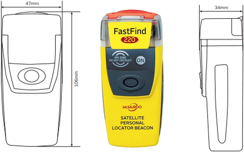 McMurdo FAST FIND 220 Personal Locator Beacon PLB 45016