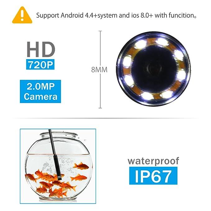 Dynamisch 1 Pc Wifi Endoskop Ip67 Wasserdichte Kamera Mit Led-licht Für Rohr Auto Inspektion Top Messung Und Analyse Instrumente Werkzeuge