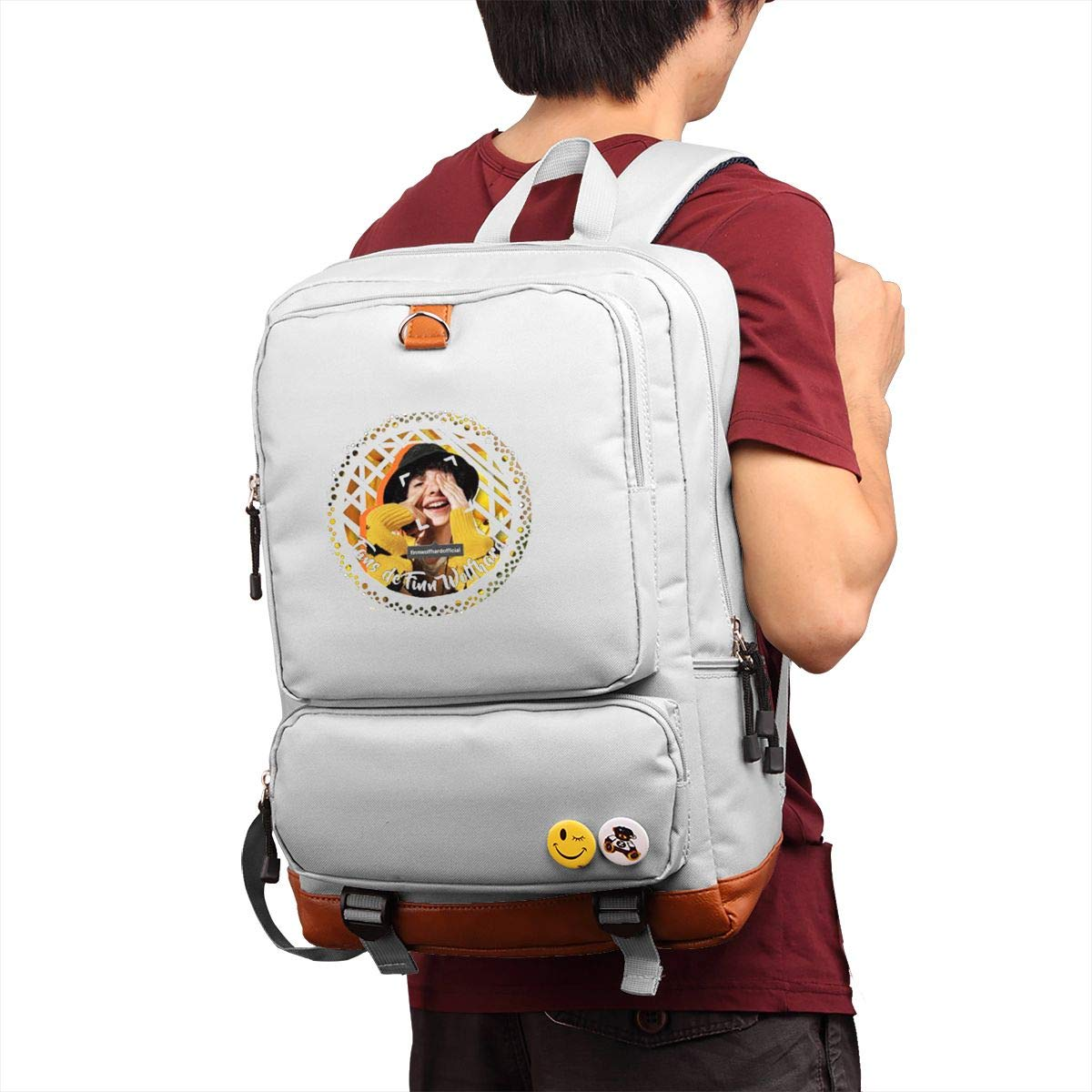 Finn Wolfhard Sports Backpack Outdoor Shopping Backpack Multi-functional Backpack