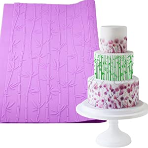 Anyana sugar edible wedding floral flower bamboo lace cake silicone Embossing Mat Texture fondant impression lace mat decorating mold gum paste cupcake topper icing candy imprint baking moulds craft