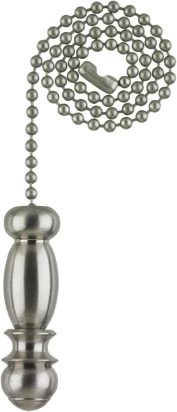 Westinghouse Lighting 7710300 Lighting Pendant Pull Chain, Brushed Nickel - Ceiling Fan Pull Chains -
