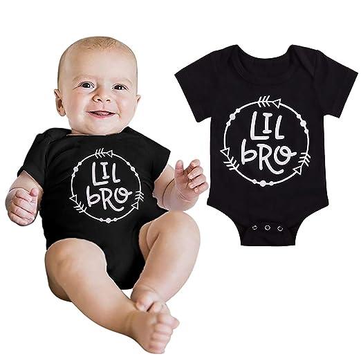 8cc0df65f Amazon.com  Newborn Infant Baby Boy Bodysuit Jumpsuit Little Brother ...