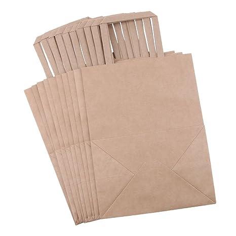 Backbayia 10pcs Bolsa Papel Kraft Caja Comida Caja de Pastel ...