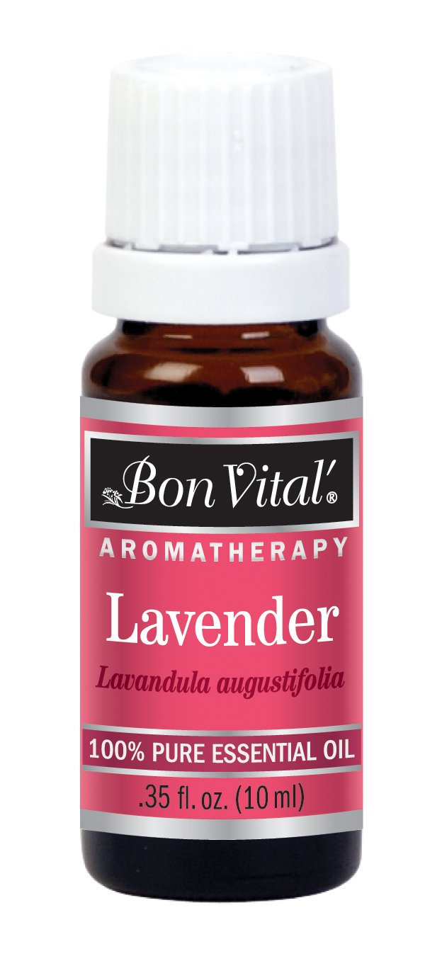 Bon Vital' Aromatherapy Lavender Essential Oil, Undiluted Therapeutic Aroma Oil for Aroma Therapy Diffuser, Diffuser, Skin Care Products, Goodnight Sleep, Heals Sun Damage, Fights Depression, 10 mL