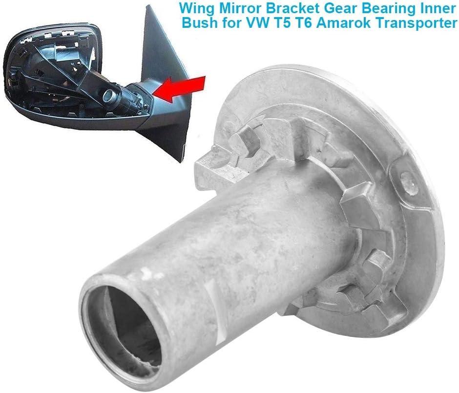 Soporte de Espejo de ala 7e1857000 Soporte de Espejo de ala Izquierda y Derecha Cojinete de Engranaje Casquillo Interior para T5 T6 Transporter