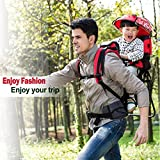 Baby toddler Hiking Backpack Carrier with Raincover Child Kid Sun canopy Shield (Green)