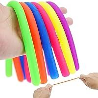 ENTHUR 6Pcs Fidget Toys Stretchy String Sensory Toys,Fidget Toys Build Resistance Squeeze Pull, Stretch Up to 8 Feet