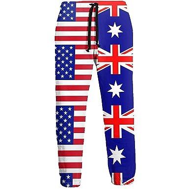 Emild Pantalones de chándal para Hombre Half USA Half Joggers con ...