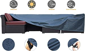 JCGARDEN Extra Large Outdoor Furniture Cover Waterproof Dust Proof Durable Patio Sectional Couch Cover Protective Loveseat Cover 110x84x28 Inch