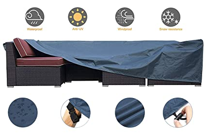 Tremendous Jcgarden Extra Large Outdoor Furniture Cover Waterproof Dust Proof Durable Patio Sectional Couch Cover Protective Loveseat Cover 98X98X28 Inch Machost Co Dining Chair Design Ideas Machostcouk