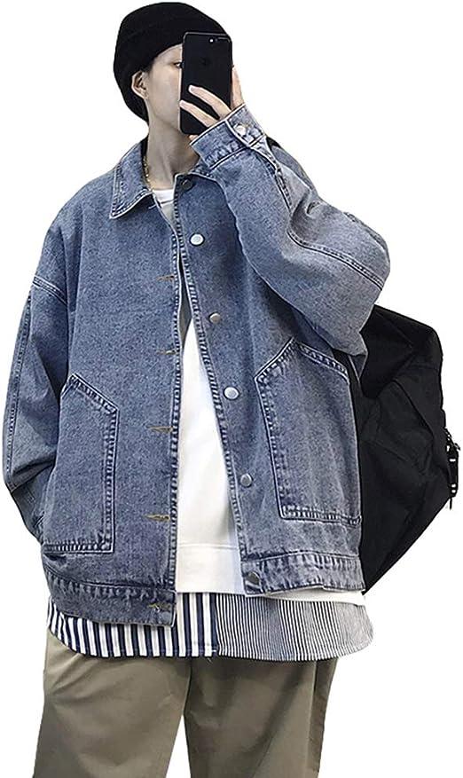 Ptorデニム ジャケット メンズ ジージャン アウター デニム Gジャン 長袖 ゆったり コート 秋服 カジュアル 原宿系 おしゃれ デニムジャケット ストリート系
