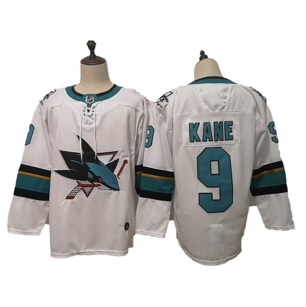 Yajun Evander Kane#9 San Jose Sharks Maglie da Hockey su Ghiaccio NHL Uomo Hockey Jersey Felpe Traspirante T-Shirt Sportswears