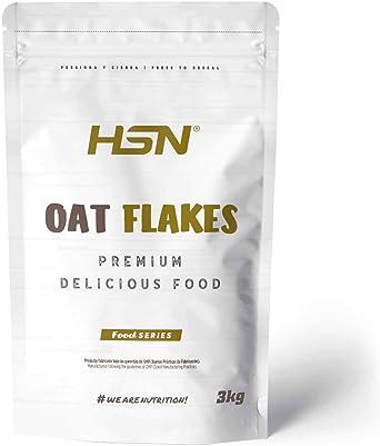 Copos de Avena Integrales Finos de HSN   Oat Flakes   Cereal con Proteínas, Carbohidratos de Lenta Digestión y Ácidos Grasos Esenciales   Aporte de ...